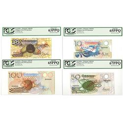 Seychelles Monetary Authority, ND 1979 Specimen set of 4 notes.