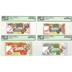 Seychelles Monetary Authority, ND 1989 Specimen set of 4 notes.