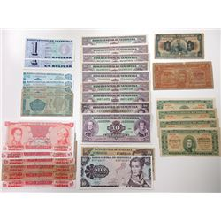 Assorted South American Issuers. 1880s-2000s. Group of 95 Issued Notes.