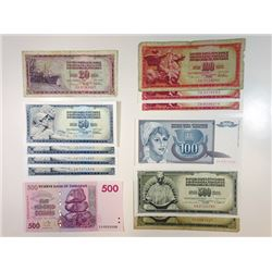 Yugoslavia, A Large & Impressive Group of Replacement Notes, Mostly 1980s.