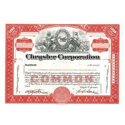Chrysler Corp., ca,1960-1970 Specimen Stock Certificate
