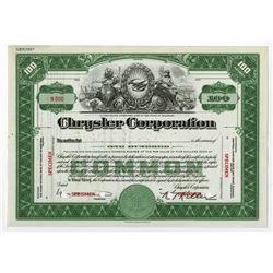 Chrysler Corp., ca.1930-1950 Specimen Stock Certificate.