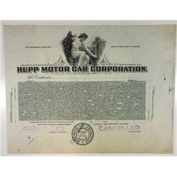 Hupp Motor Car Corp., 1915 Proof Stock Certificate