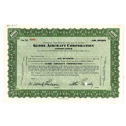 Globe Aircraft Corp., ca.1950-1960 Specimen Stock Certificate