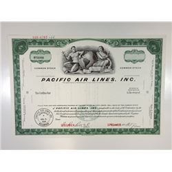 Pacific Air Lines, Inc., 1966 Specimen Stock Certificate