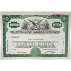 Pan American Airways Corp., 1950s Specimen Stock Certificate