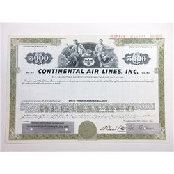 Continental Air Lines, 1967 Specimen Bond