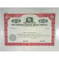 Fairfield County Trust Co., ca.1950-1960 Specimen Stock Certificate