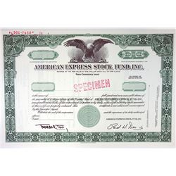 American Express Stock Fund, Inc., 1970 Specimen Stock Certificate