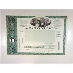 BankAmerica Corp., 1988 Specimen Stock Certificate