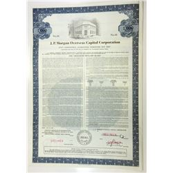J.P. Morgan Overseas Capital Corp., 1972 Specimen Bond