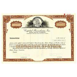 Capital Bancshares, Inc., 1986 Specimen Stock Certificate