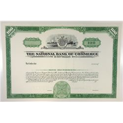 National Bank of Commerce, 1968 Specimen Stock Certificate