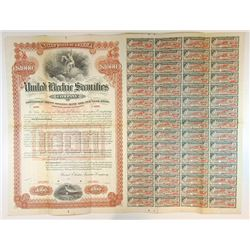 United Electric Securities Co., 1921 Specimen Bond