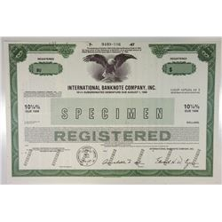 International Banknote Co. Inc., 1987 Specimen Bond