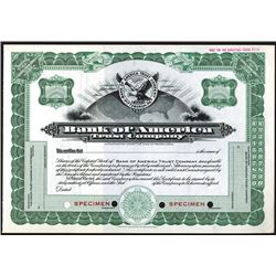 Bank of America Trust Co., ca.1940-1950 Specimen Stock Certificate