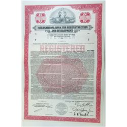 International Bank for Reconstruction & Development, 1960 Specimen Bond