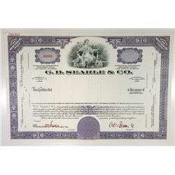 G. D. Searle & Co., 1960s Specimen Stock Certificate