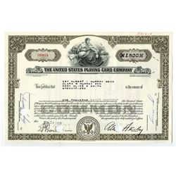United States Playing Card Co., 1959 Issued Stock Certificate