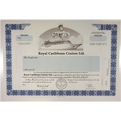 Royal Caribbean Cruises Ltd., 1985 Specimen Stock Certificate