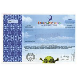 DreamWorks Animation SKG, 2004 Specimen Stock Certificate.