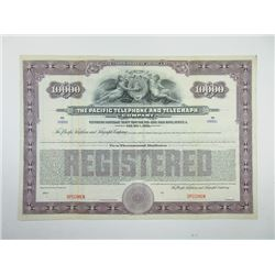 Pacific Telephone & telegraph Co., 1922 Specimen Bond