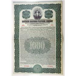 Southern California Telephone Co., 1917 Specimen Bond