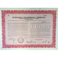 Hawaiian Telephone Co., 1964 Specimen Registered Bond