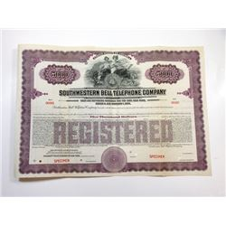Southwestern Bell Telephone Co., 1924 Specimen Bond