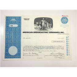 American Broadcasting Co., Inc., 1985 Specimen Stock Certificate