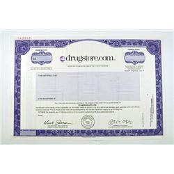 Drugstore.com, Inc., 1999 Specimen Stock Certificate