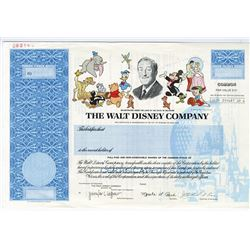 Walt Disney Company, 1999 Specimen Stock Certificate.