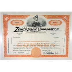 Zenith Radio Corp., ca.1960-1970 Specimen Stock