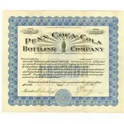 Penn Coca-Cola Bottling Co., 1923 Issued Stock Certificate