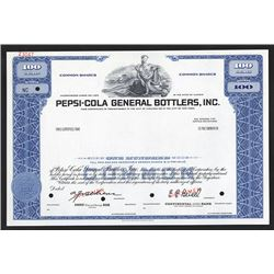 Pepsi-Cola General Bottlers, Inc., ca.1950-1960 Specimen Stock Certificate
