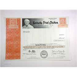 Kentucky Fried Chicken Corp. 1969 Specimen Stock Certificate