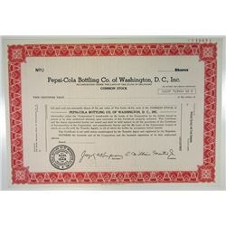 Pepsi-Cola Bottling Co. of Washington, D.C., Inc., 1976 Specimen Stock Certificate