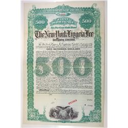 New York Hygeia Ice Co., Ltd., 1892 Specimen Bond