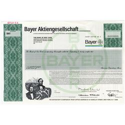 Bayer Aktiengesellschaft, 2002 Specimen A.D.R. Stock Certificate  - Bank of New York Depositary.