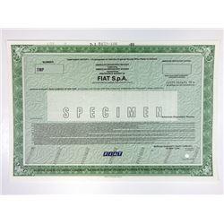 Fiat S.p.A., 1989 Specimen Certificate