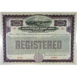 Mexican Petroleum Co. Ltd., of Delaware, 1911 Specimen Bond