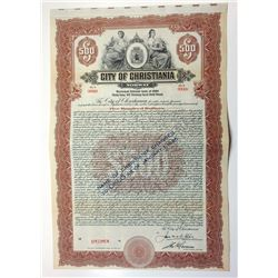 City of Christiania, 1924 Specimen Bond