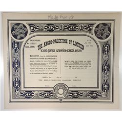 Anglo-Palestine Co. Ltd., 1919 Bond