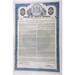 Union of South Africa, 1958 Specimen Bond
