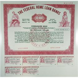 Federal Home Loan Banks, 1974 Specimen Bond