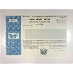 U.S. Coupon Treasury Receipt, 1988 Specimen