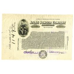Atlas Powder Co., 1933 Issued Stock Certificate