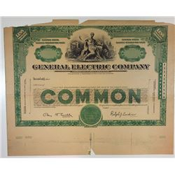General Electric Co., 1940s Proof Stock Certificate