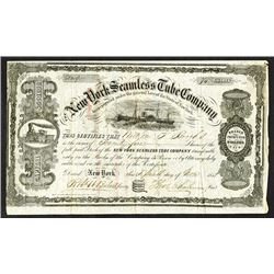 New York Seamless Tube Co., 1858 Stock Certificate.