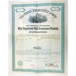Equitable Life Assurance Society, ca.1870-1900 Specimen Subscription Bond.